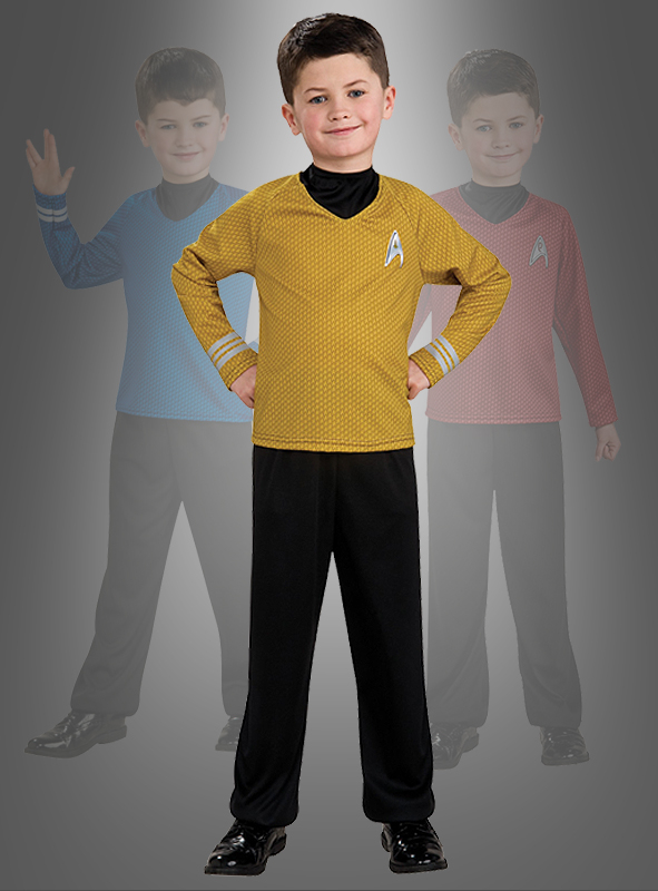 STAR TREK Captain Kirk gold Kinderkostüm
