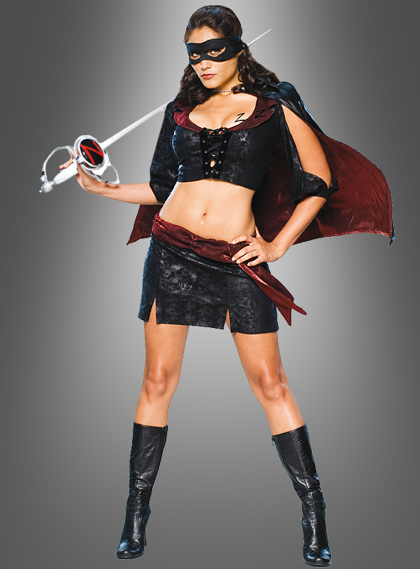 Lady Zorro short adult costume
