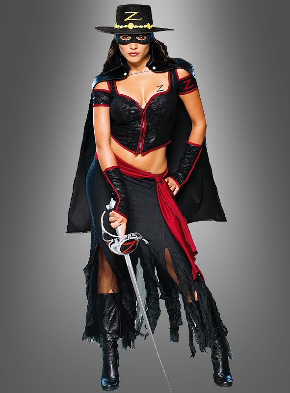 Zorro Lady Kostüm lang