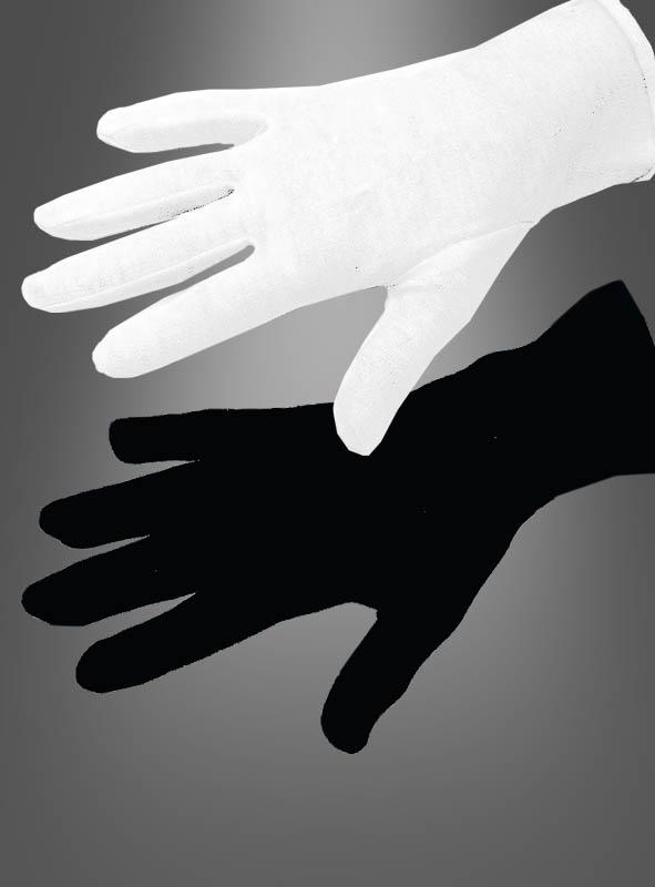 Kurze Handschuhe weiß und schwarz