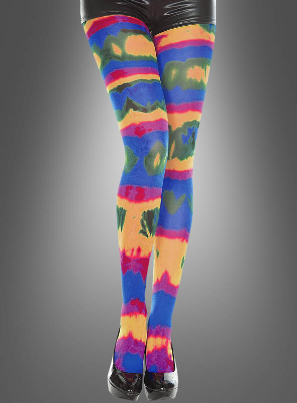 Rainbow tie dye Opaque Pantyhose