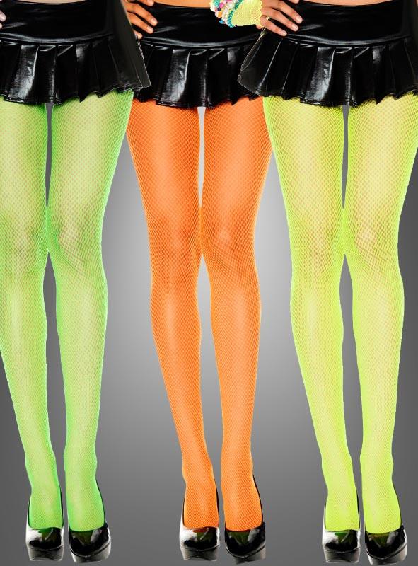 fishnet tights neon
