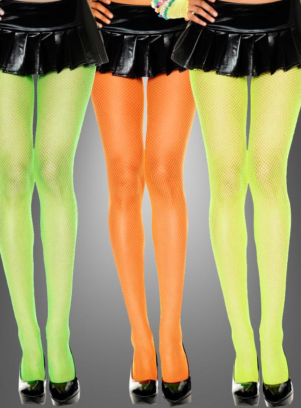 fishnet tights neon