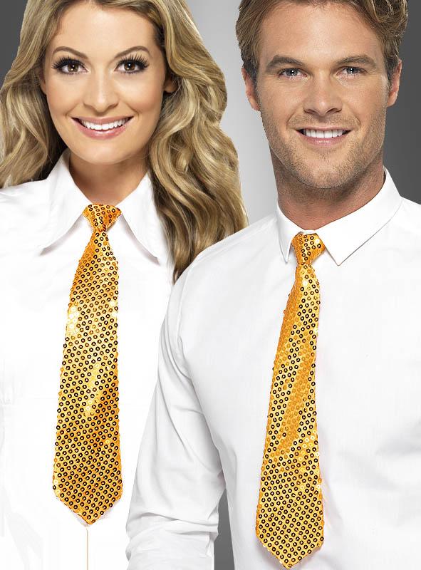 goldene pailletten krawatte bei kost. Black Bedroom Furniture Sets. Home Design Ideas