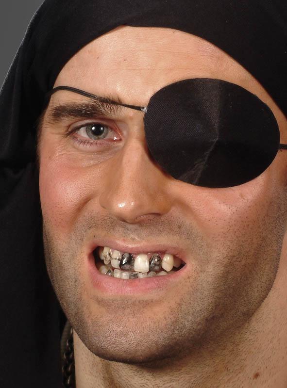 Zahnschwarz Make-up für Piraten und Hexen