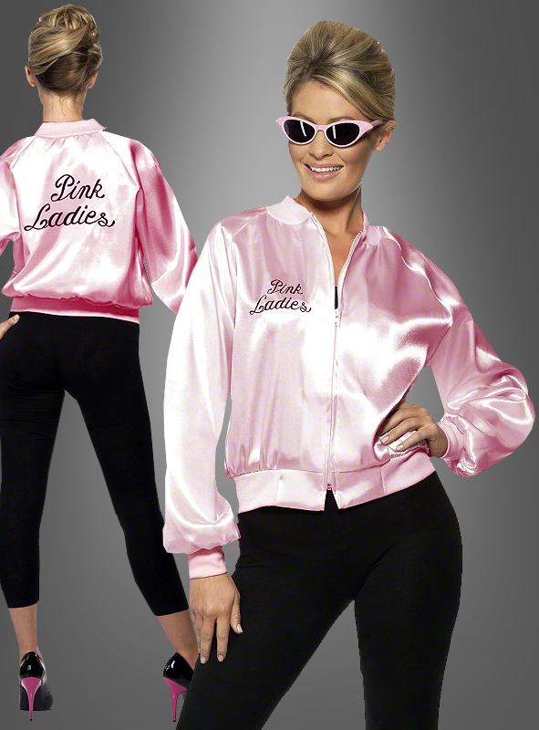 Pink Ladies Jacket Grease 60s