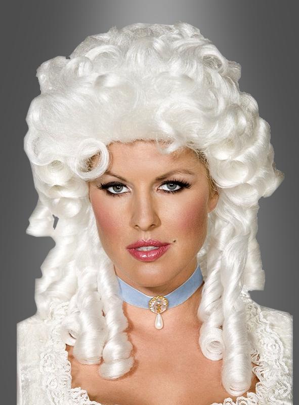 Barockperücke Damen weiß
