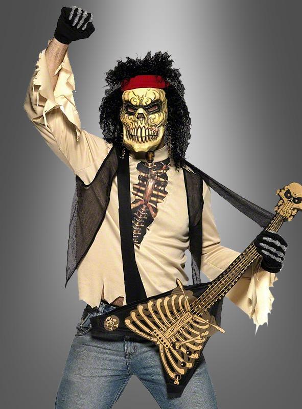 80er Jahre Rockstar Zombie Kostüm
