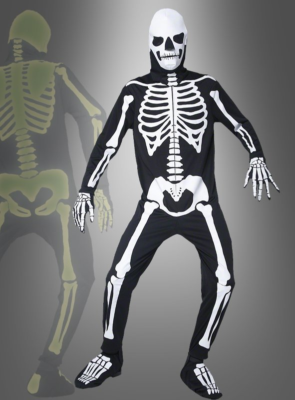 Leuchtendes Skelett Kostüm