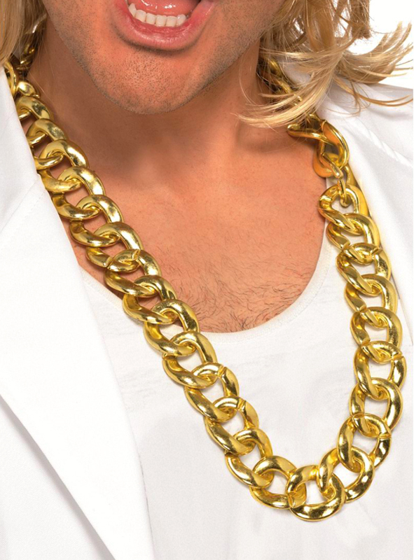 Fette goldkette  Halskette Goldkette für 80er Jahre Jahre Pimpkostüme