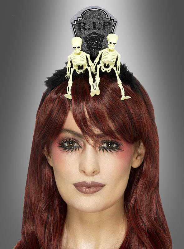 Halloween Kopfschmuck Skelett Grabstein