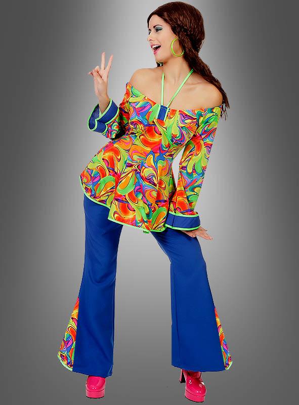 Buntes Hippie Outfit für Damen