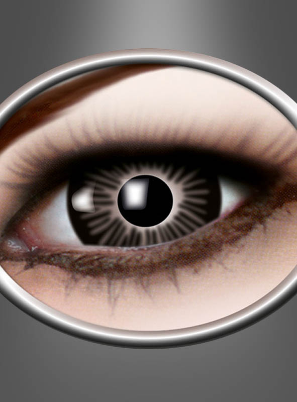 Kontaktlinsen schwarz Big Eye