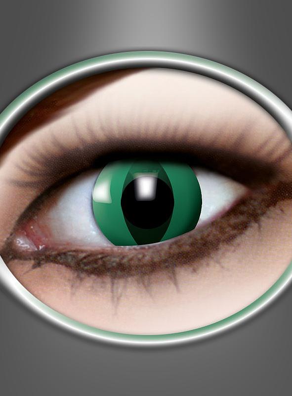 3 Monats Kontaktlinsen Anaconda Schlange grün