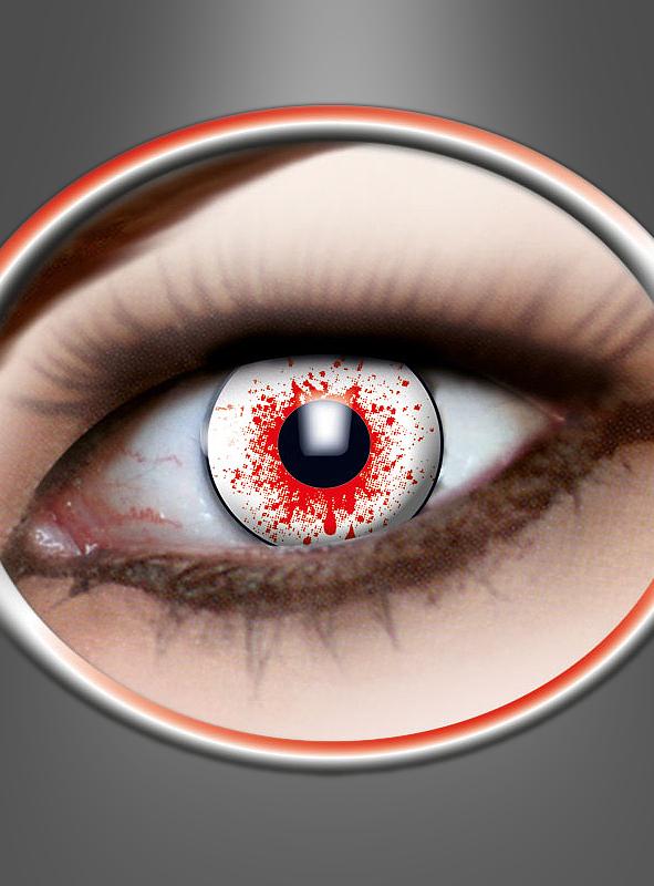 3 Monats Kontaktlinsen Bloodshot blutig