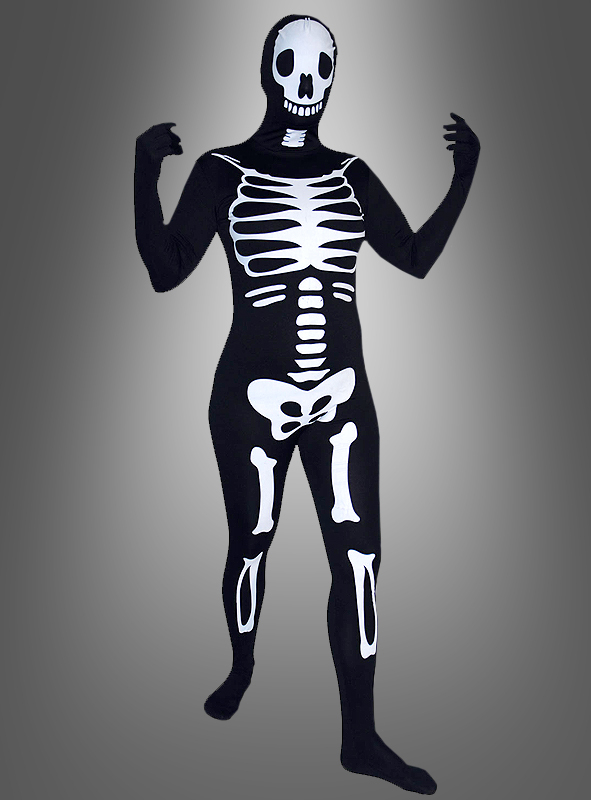 Skelett Speedsuit Ganzkörperanzug
