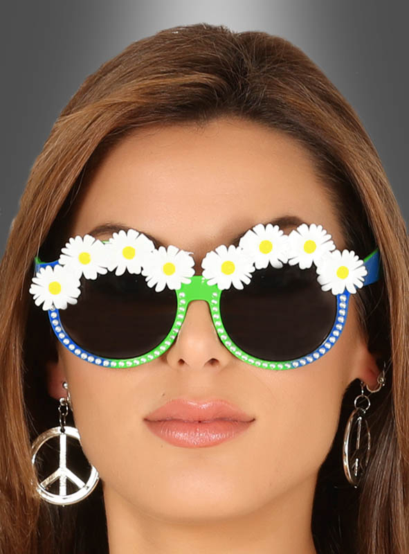 Green Daisy Glasses