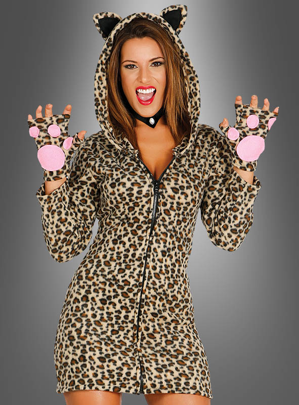 Leopard Dress Women with Hood