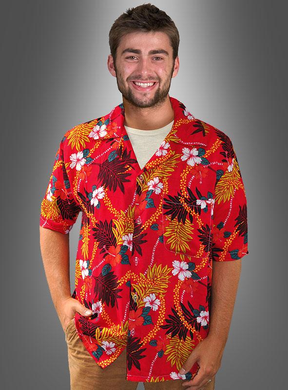Hawaiihemd Blütenzauber rot