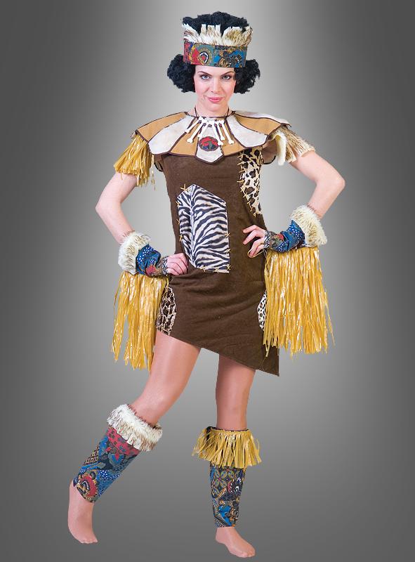Afrikanerin Buschfrau Kostüm