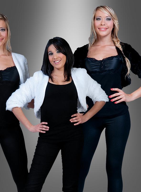 Bolero Felljacke weiß oder schwarz