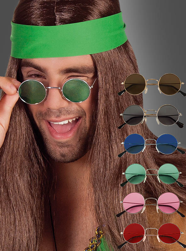 70er Jahre Nickelbrille Hippie Flower Power
