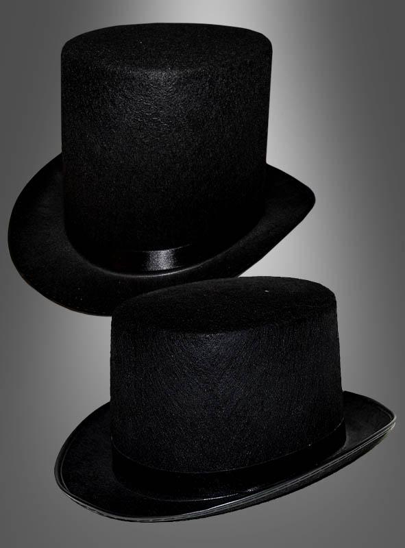 Klassischer Zylinder Hut schwarz