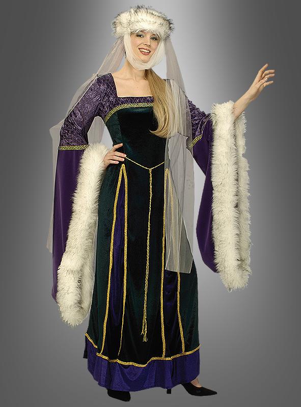 Designer Mittelalter Kostüm für Damen