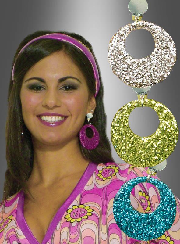 Glitter mod Earrings silver