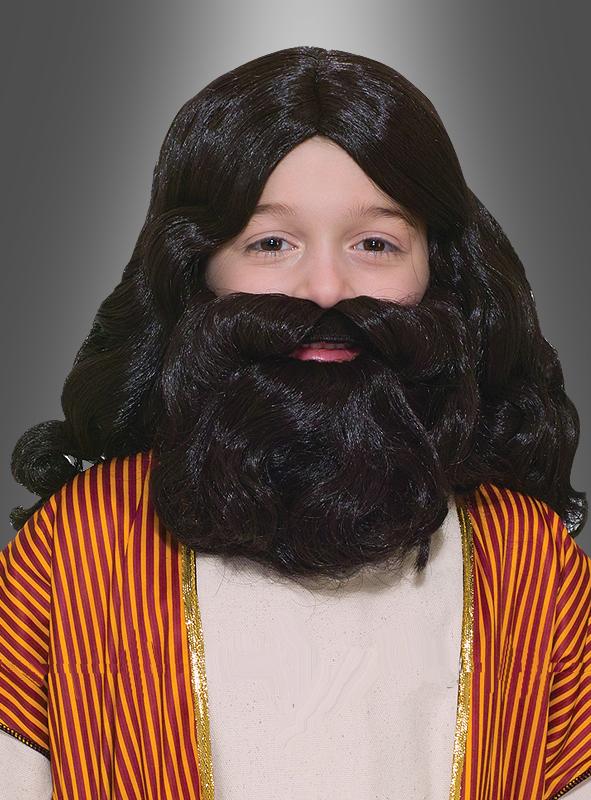 Kinderperücke und Bart Moses