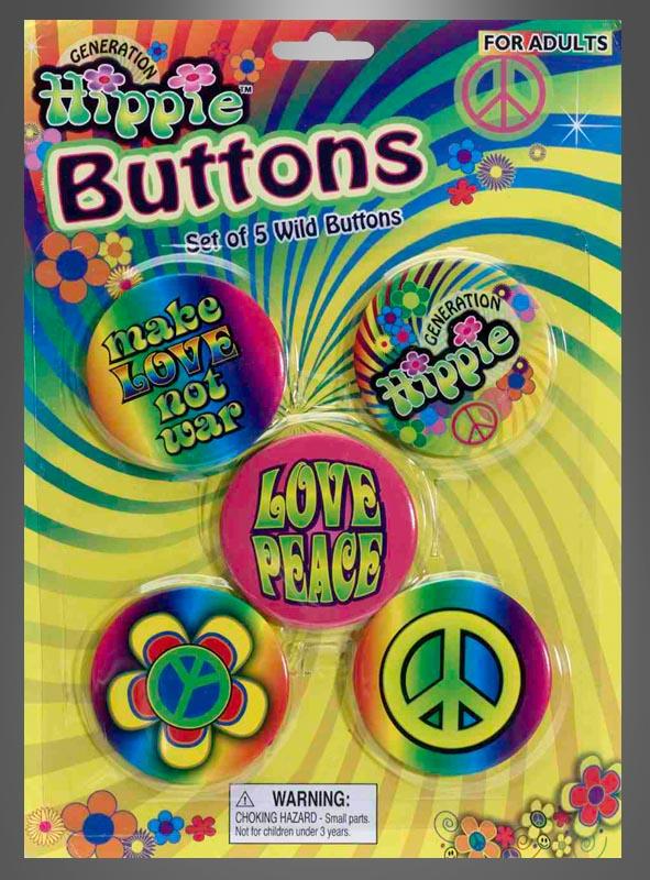 Hippie Buttons Anstecknadeln