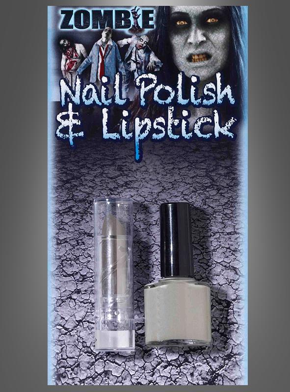 Zombie Nailpolish and Lipstick