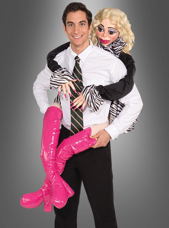 Blondine Huckepack Kostüm