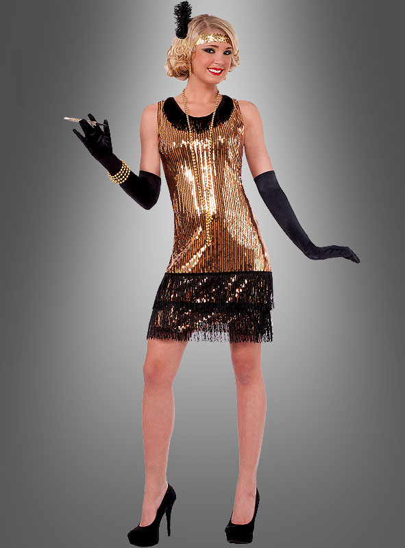 Flapper dress gold