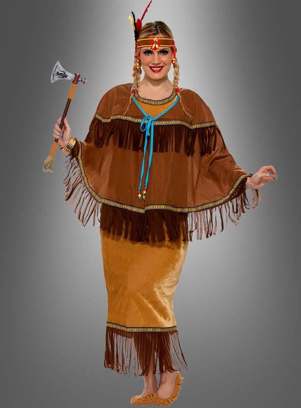 Indianerin Kostum Hochwertig Stylisch Kostumpalast