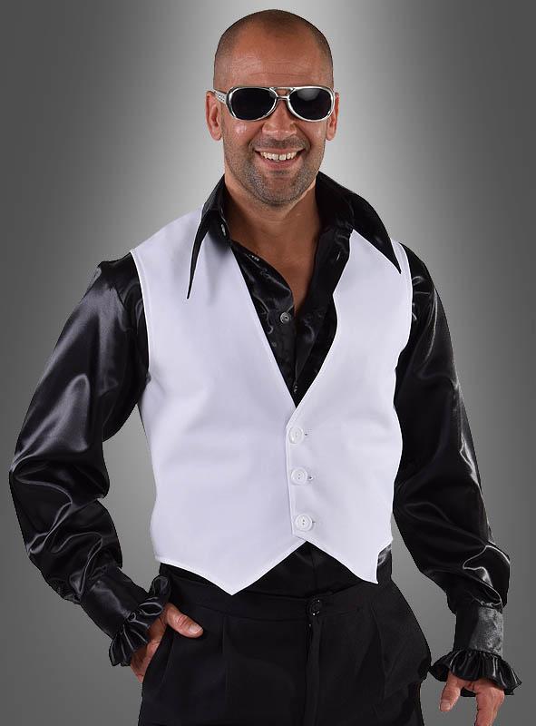 Weiße Weste zum Disco Anzug