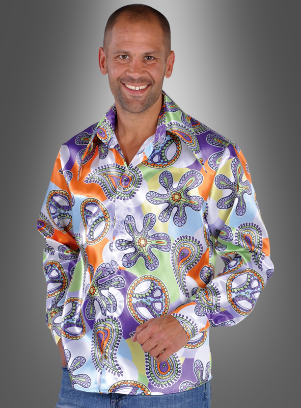 Peace Hippie Shirt for Men Cool Purple