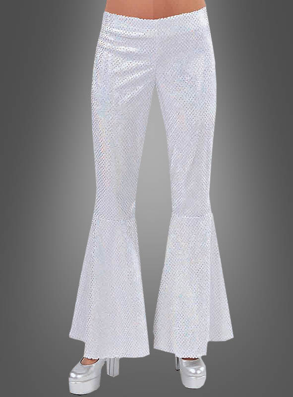 White Flares with Sequins