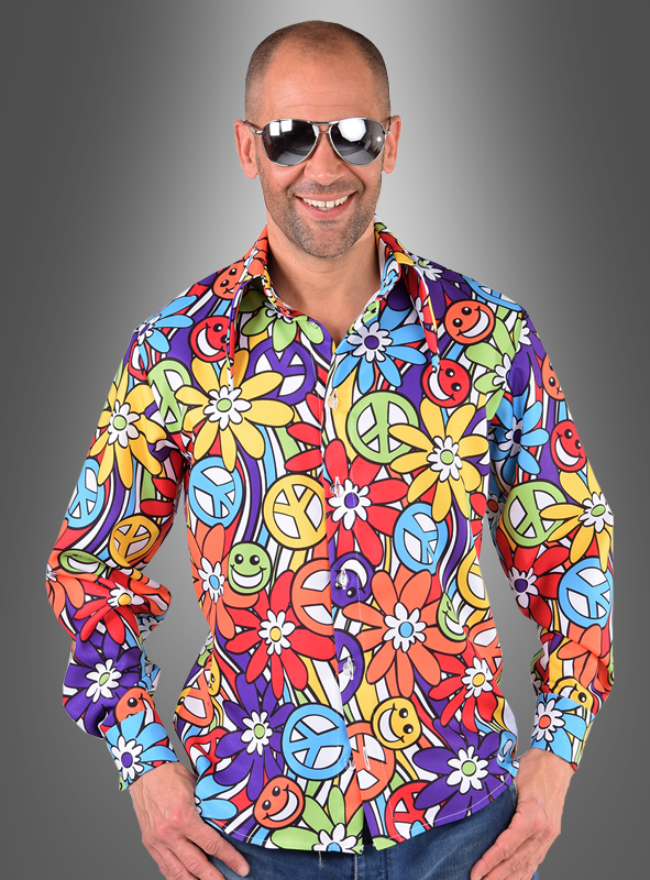 Smile Hippie Flower Shirt for Men