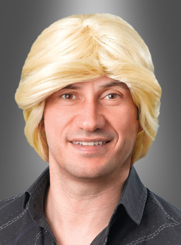 Blonde Schlager Guy Wig for Men