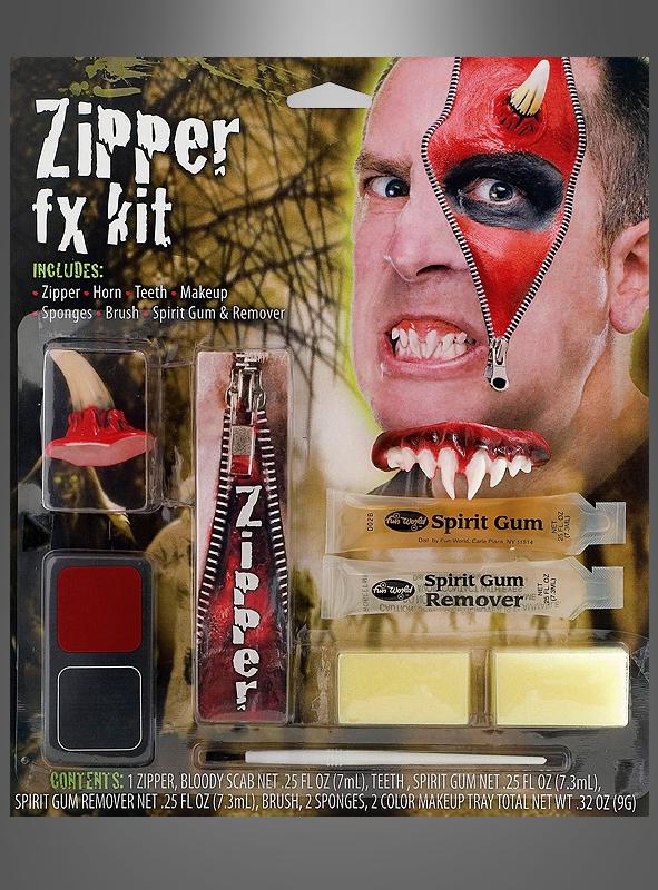 Teufel Make-up Set Reissverschluss