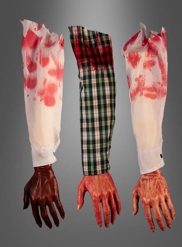 Blutiger abgetrennter Arm