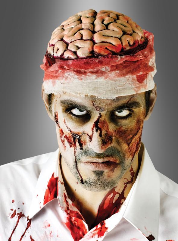 Horror Mütze offenes Gehirn