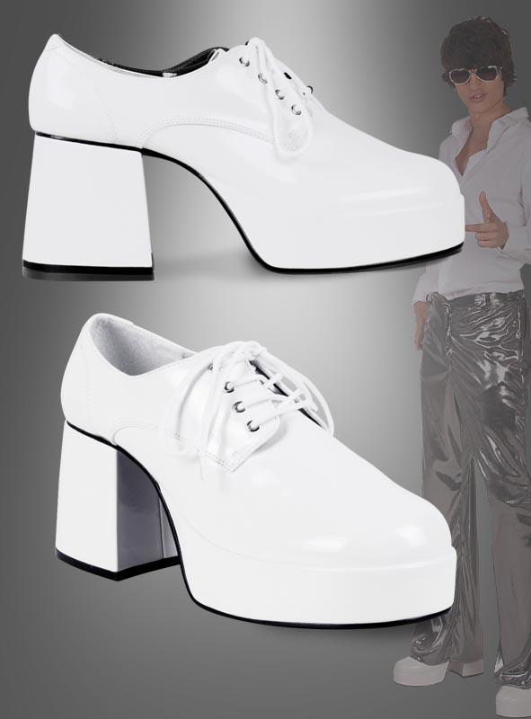 Platform Shoes for Men White