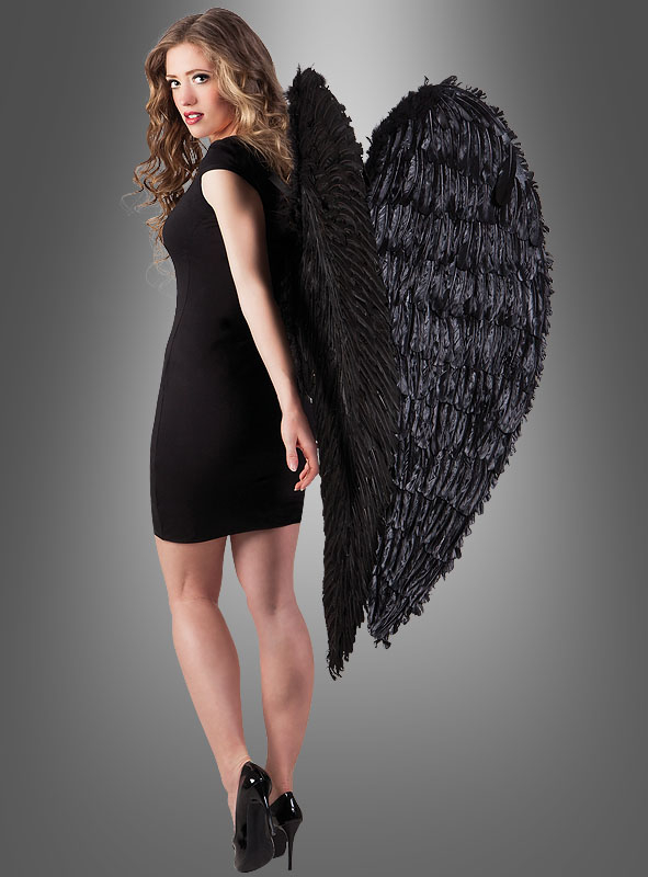Giant Black Angel Wings