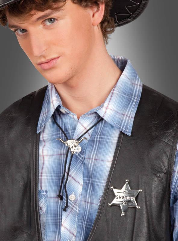 Sheriffstern und Bolotie Cowboy Krawatte