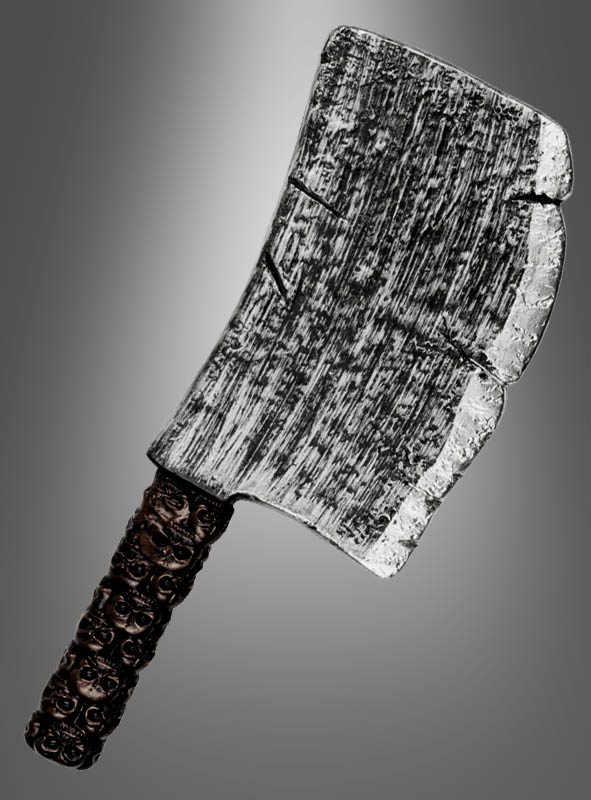 Cleaver Axe with skulls