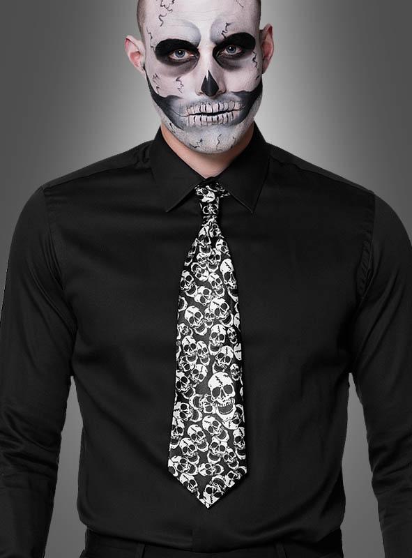 Halloween Tie Skull