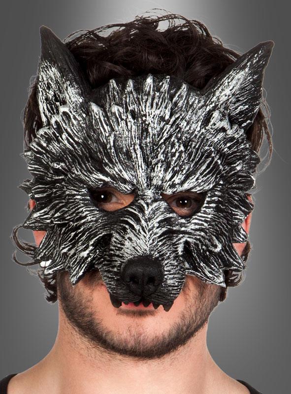 Wolf Werwolf Halbmaske