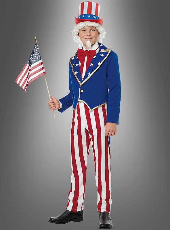 Uncle Sam Kostüm für Kinder